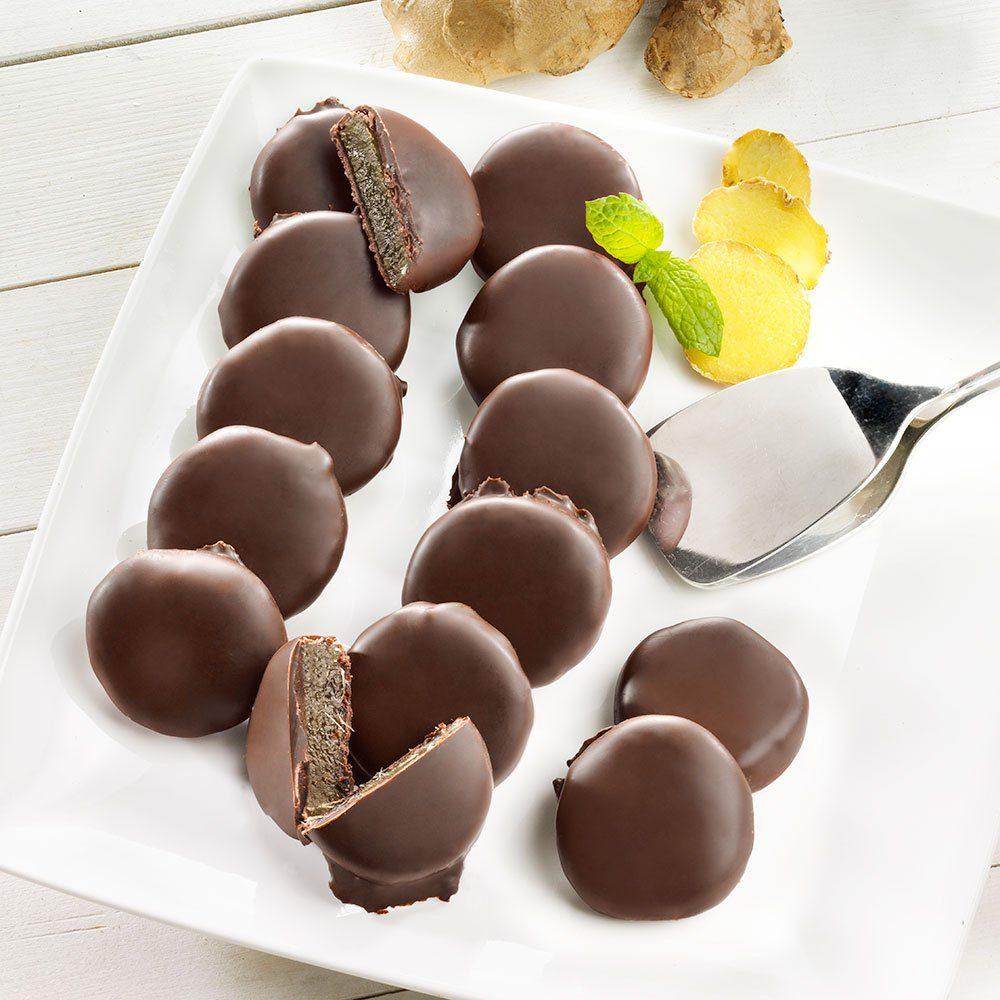 Schrader Ingwer-Taler in Zartbitterschokolade