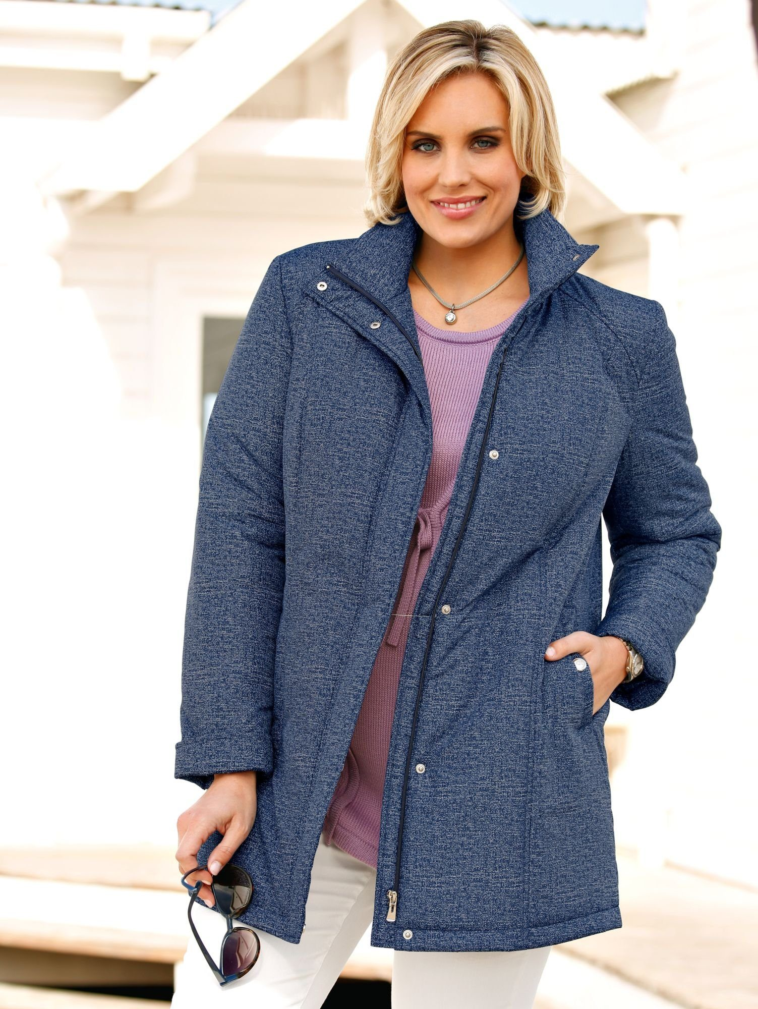 m. collection Jacke in Jeans-Optik