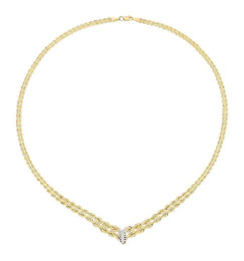 Vivance Collier »Collier«, rhodiniert,diamantiert