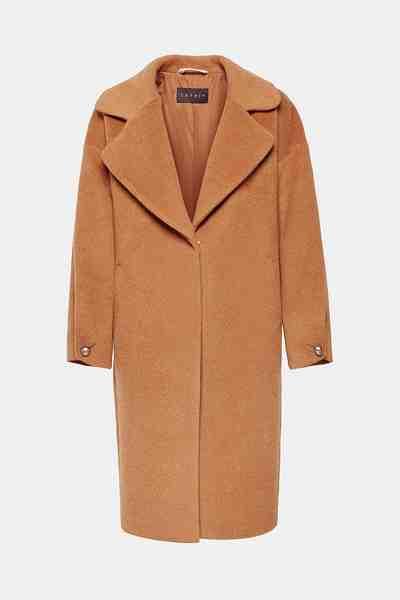 Esprit Collection Aus Woll-Mix: Mantel mit Retro-Charme