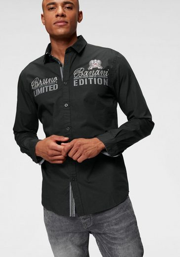 Bruno Banani Langarmhemd mit hochwertigen Stickereien