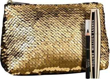 L'ORÉAL PARIS Mascara-Set »Luxuriöse Kosmetiktasche in Gold«, 3-tlg., + gratis Mini Le Khol