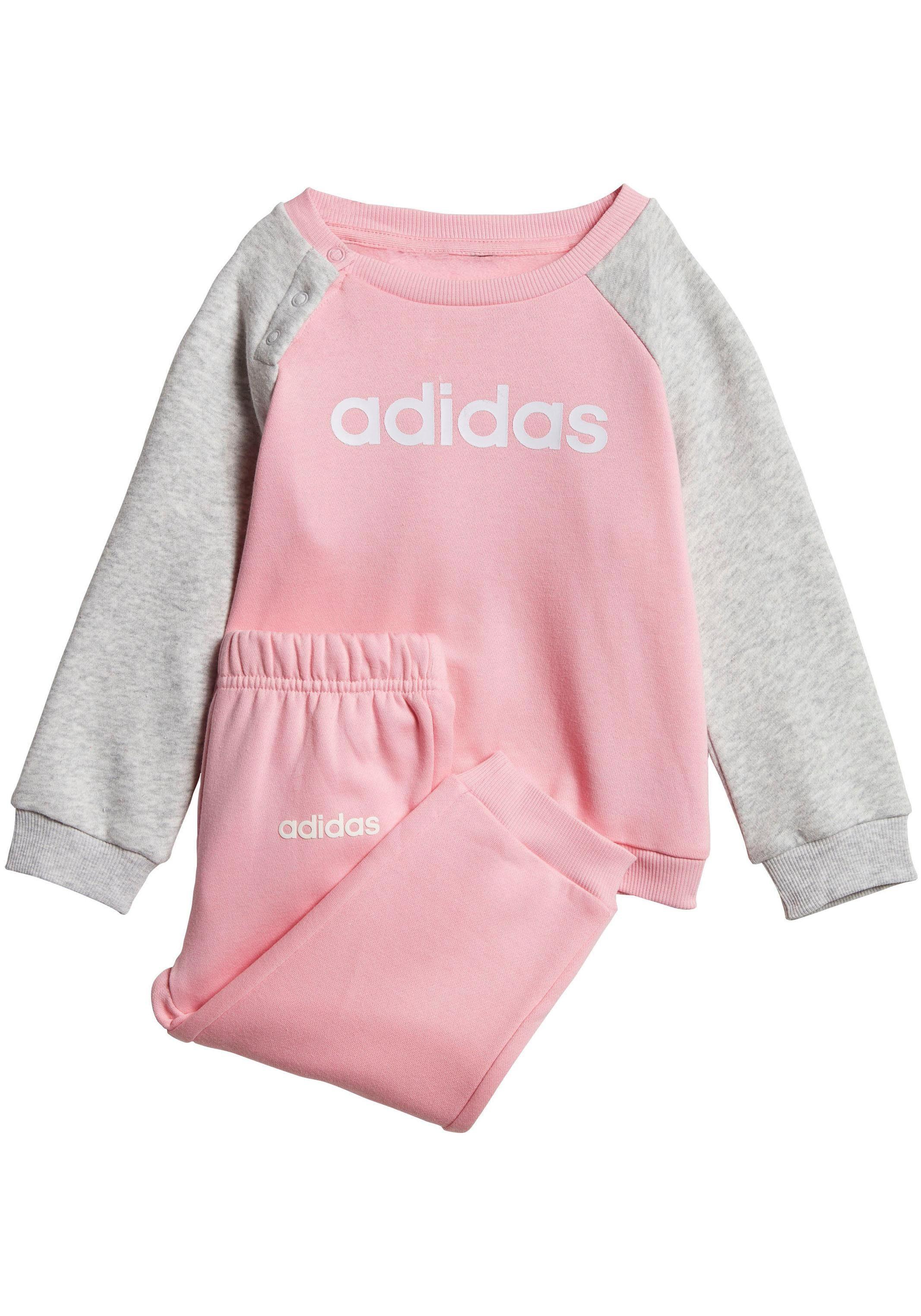 adidas anzug grau rosa