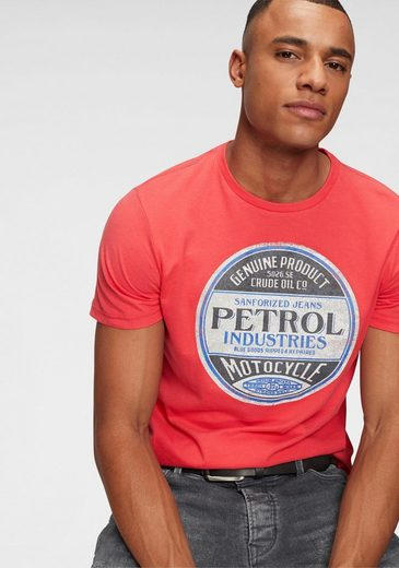 Petrol Industries T-Shirt mit Markenprint vorne