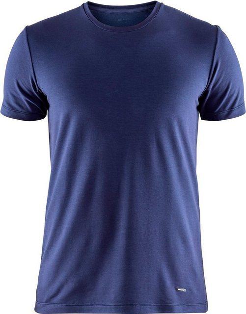 Herren Craft T-Shirt Essential Warm Round-Neck SS Shirt Men blau | 07318572923775
