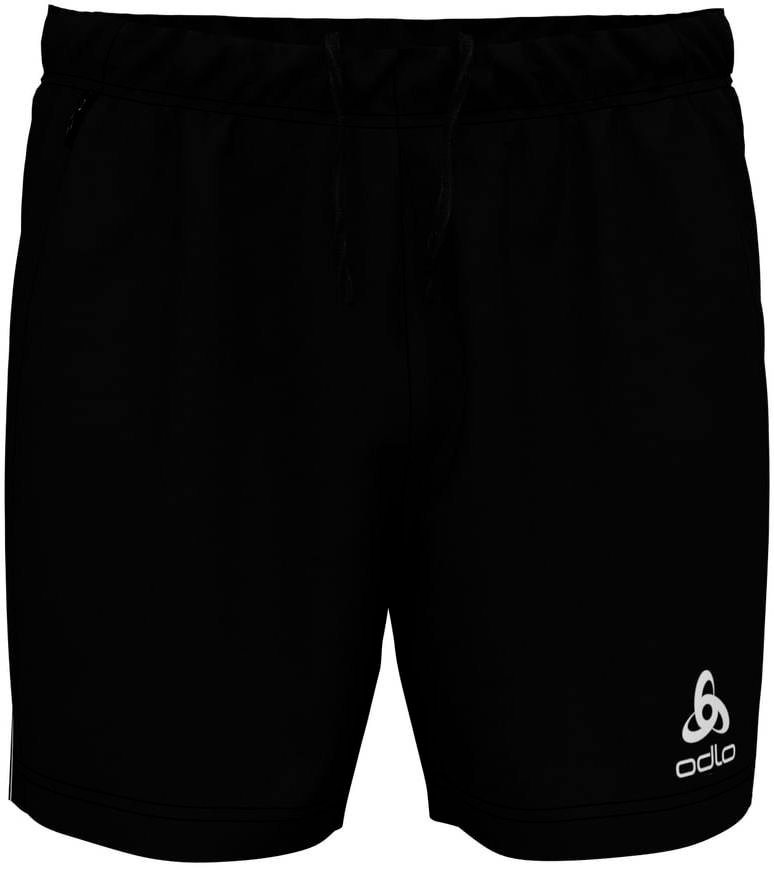 Herren Odlo Hose Zeroweight Windproof Warm Shorts Men schwarz | 07613361260988