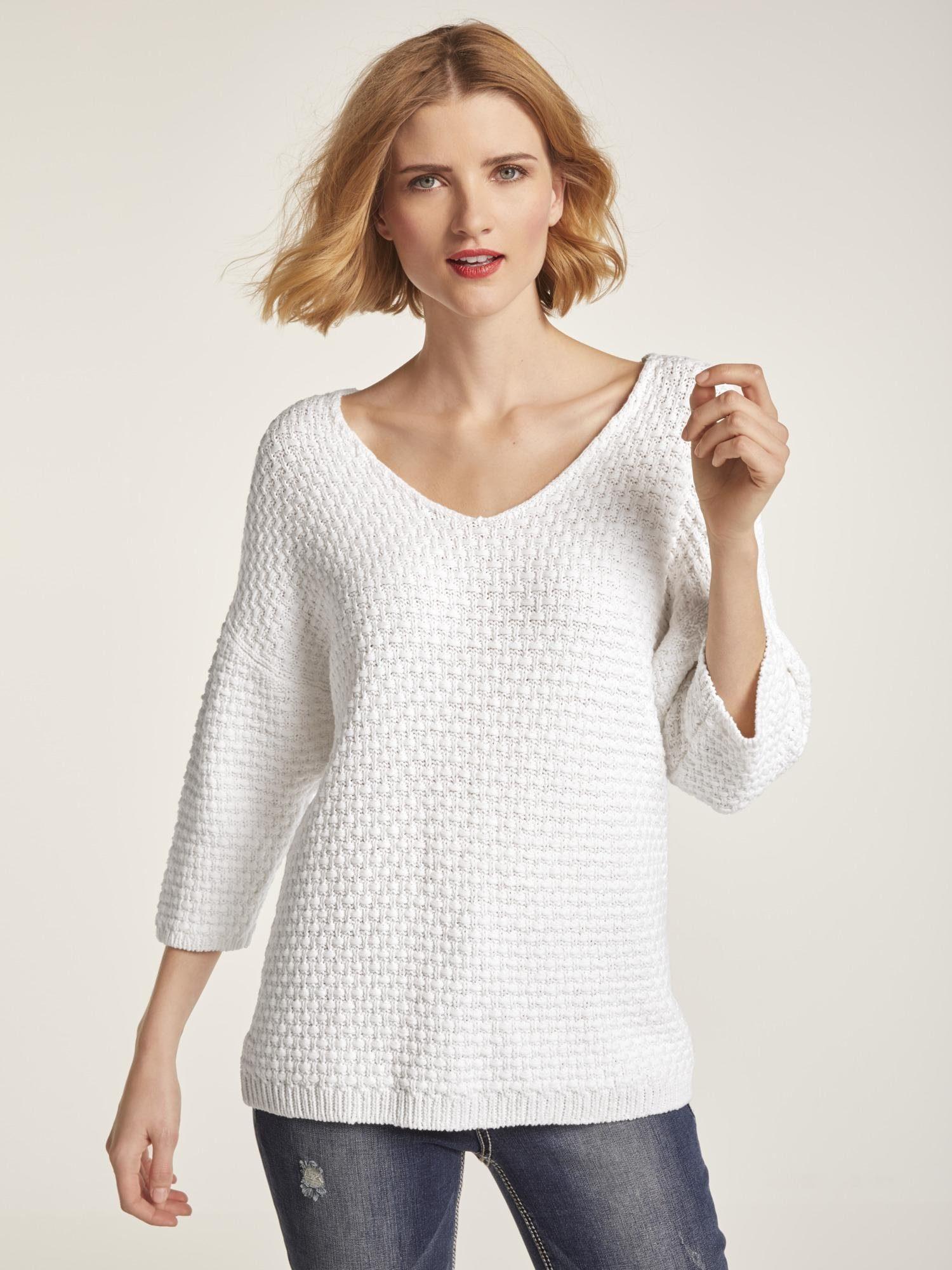 heine CASUAL Pullover mit Strukturmuster