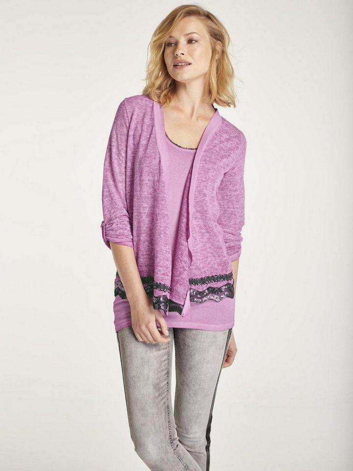 30d06dc75848b8 heine CASUAL Shirt-Twinset mit Sptze und Pailletten online kaufen | OTTO
