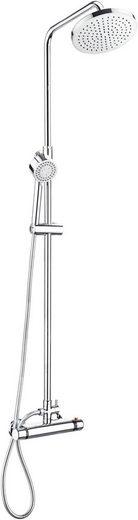 CORNAT Komplett-Set: Duschsystem »Perfect«, mit Thermostat