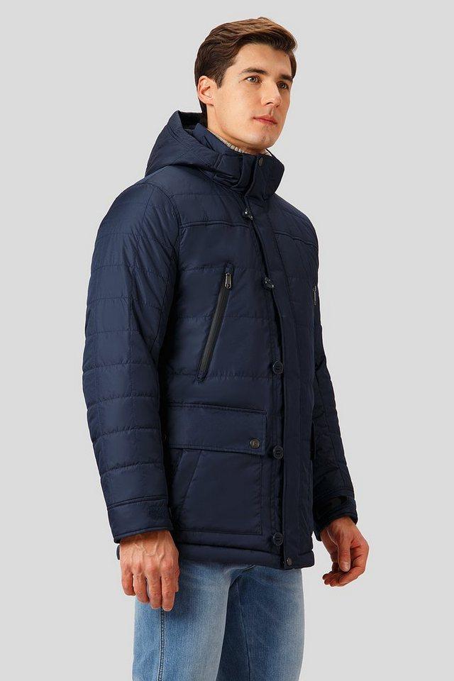 Herren Finn Flare Winterjacke mit hochwertiger Wattierung blau | 06438157509932