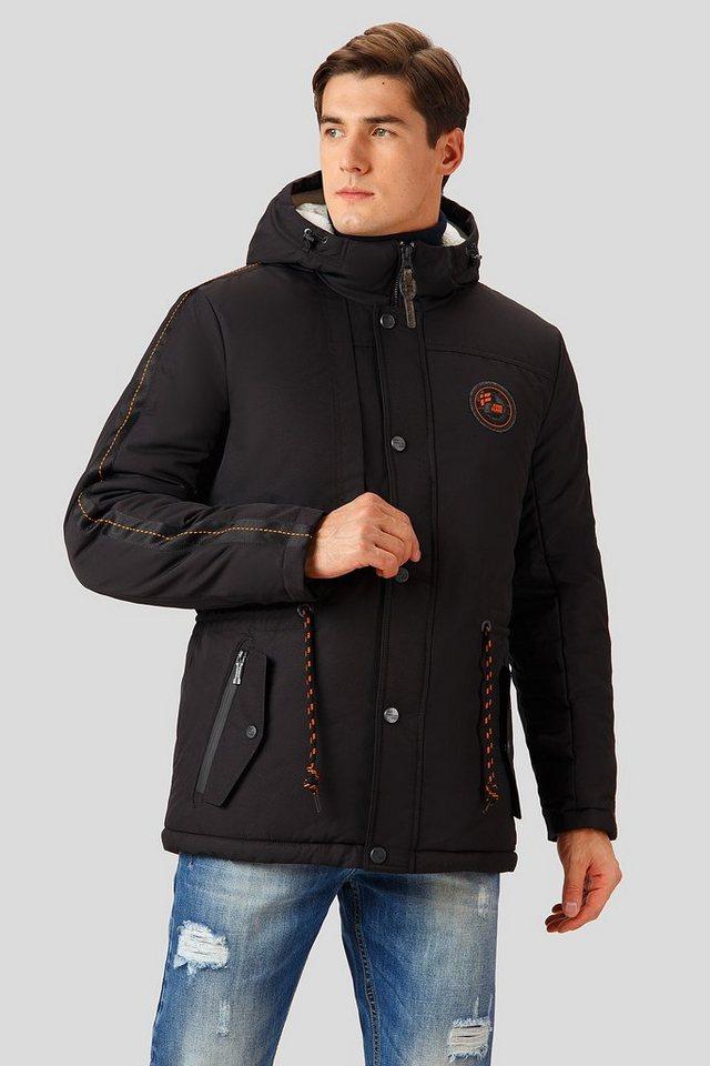 Finn Flare Winterjacke mit verstellbarer Taillenweite | Bekleidung > Jacken > Winterjacken | Schwarz | Polyester | Finn Flare