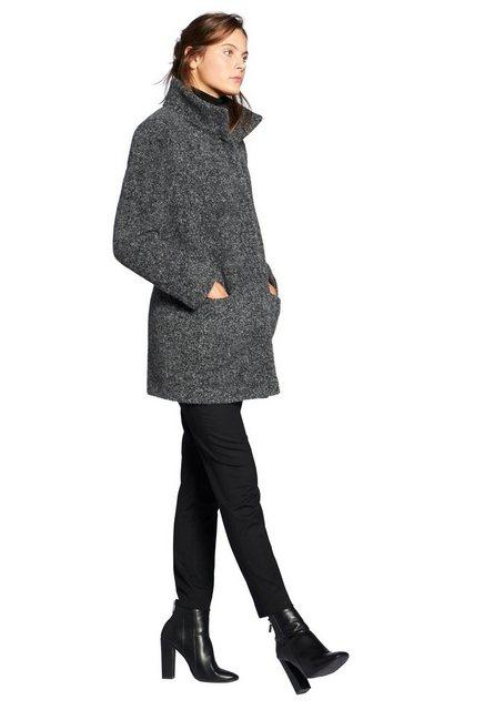 Damen Basler Parka Leichte Jacke mit Alpaka-Haar-Anteil Druckknopf grau | 04061774024346