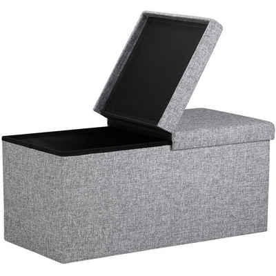 Deuba Sitztruhe (1-St), Sitzbank mit Stauraum • klappbarer Deckel • platzsparend zusammenfaltbar • bequem gepolsterte Sitzfläche • einfacher Aufbau • hohe Belastbarkeit • sehr pflegeleicht • vielseitig einsetzbar