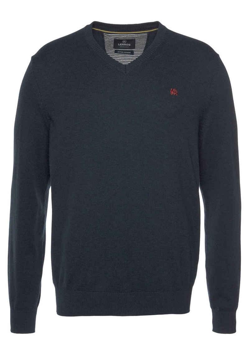 LERROS V-Ausschnitt-Pullover im Basiclook
