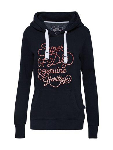 Superdry Sweatshirt »67 GENUINE FADE EMBROIDERY ENTRY HOOD« Stickerei