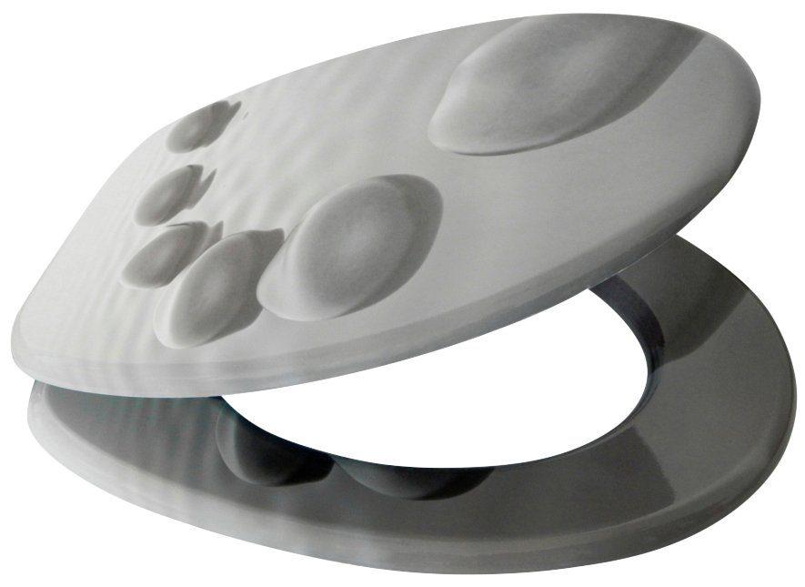 SANILO WC-Sitz »Black Stones«, mit Absenkautomatik