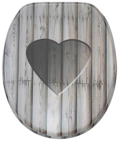 SANILO WC-Sitz »Wooden Heart«, mit Absenkautomatik