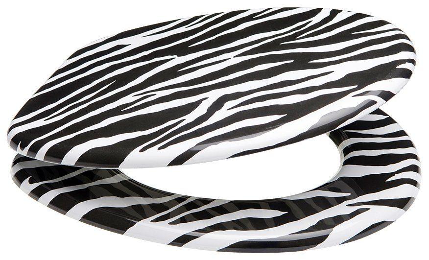SANILO WC-Sitz »Zebra Look«, mit Absenkautomatik