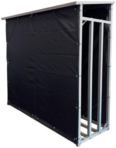 QUICK STAR Wetterschutz für Kaminholzregal 185x70x185 cm