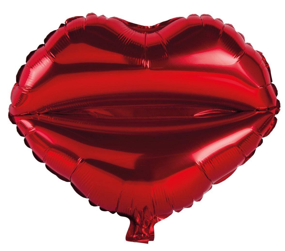 "Folienballon ""Kussmund"" 46 cm"
