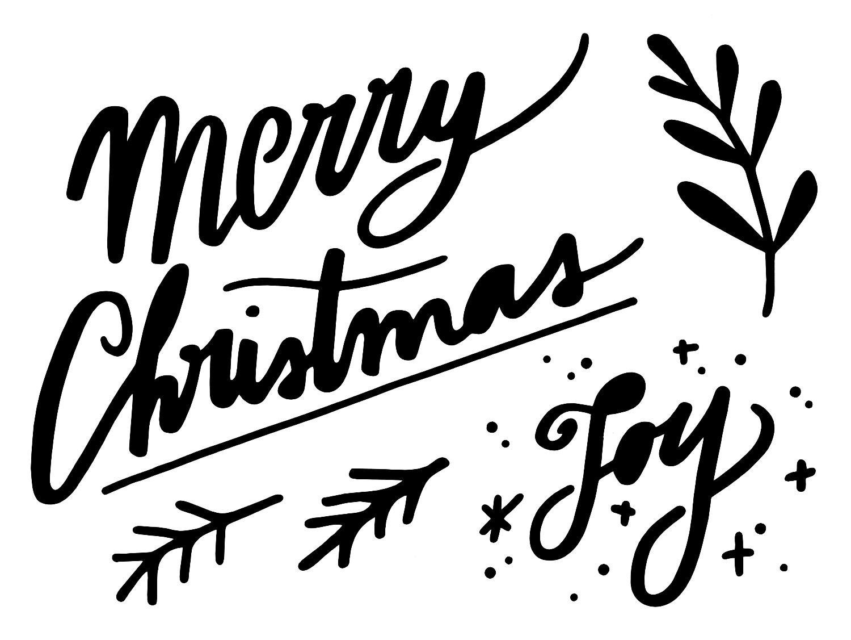 "Schablone ""Merry Christmas"" 24,5 cm x 18,5 cm"
