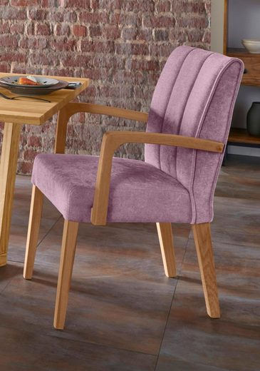 Armlehnstuhl »Nora Premium 2« (2 Stück), Gestell aus Massivholz