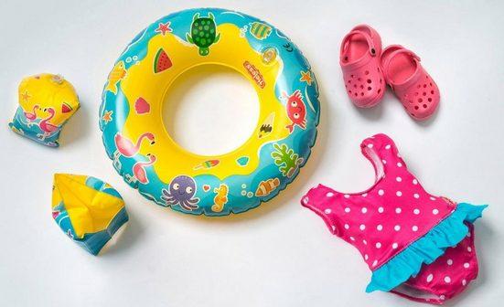 Heless Puppenkleidung »Puppenschwimmset mit Badeanzug und Zubehör« (Set, 6-tlg)