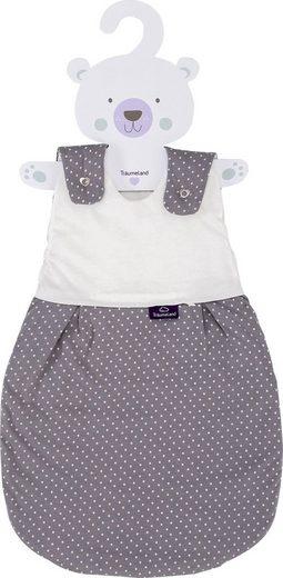 Träumeland Babyschlafsack »Außenschlafsack Pünktchen grau« (1 tlg)