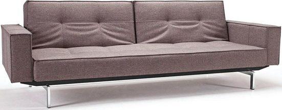 INNOVATION LIVING ™ Sofa »Splitback«, mit Armlehne und chromglänzenden Beinen, in skandinavischen Design