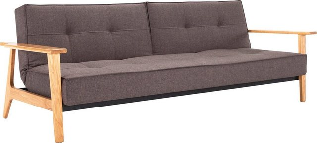 Sofas - INNOVATION™ Schlafsofa »Splitback«, mit Frej Arm in Eiche, in skandinavischen Design  - Onlineshop OTTO