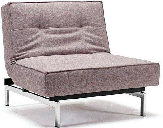 INNOVATION™ Sessel »Splitback«, mit chromglänzenden Beinen, in skandinavischen Design