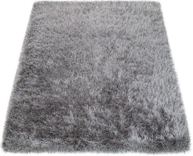 Hochflor-Teppich »Glamour 300«, Paco Home, rechteckig, Höhe 70 mm, Hochflor-Shaggy mit weichem Glanz Garn in Uni