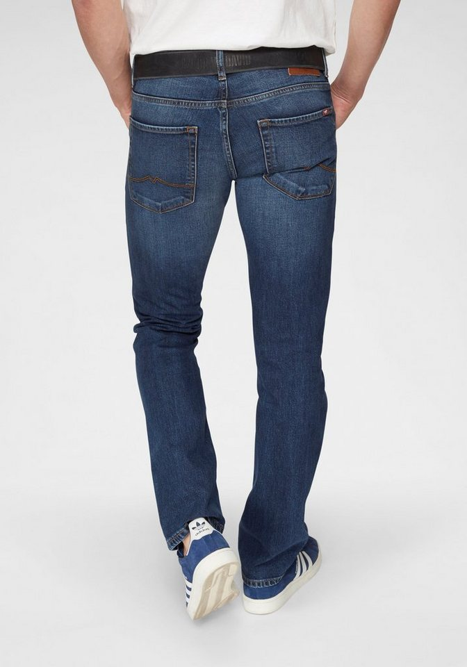 MUSTANG Straight-Jeans »Michigan« gerade geschnitten | Bekleidung > Jeans > Straight Leg Jeans | Blau | Denim | MUSTANG