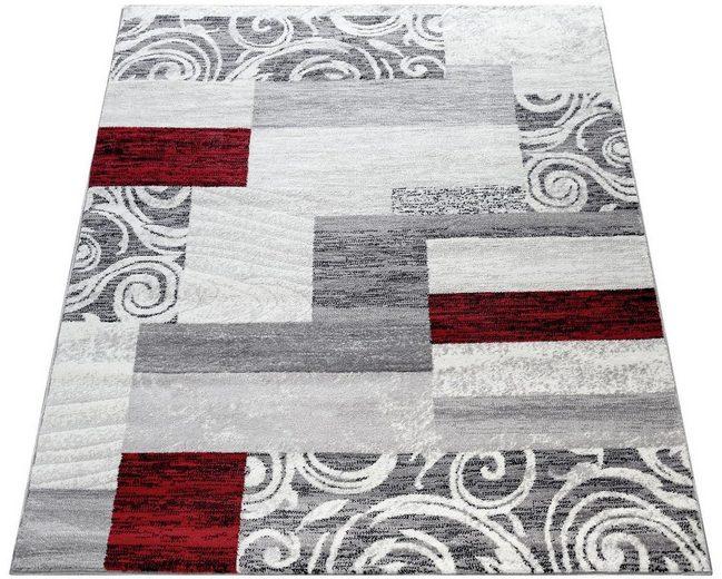 Teppich »Sinai 053«, Paco Home, rechteckig, Höhe 13 mm, karierter Kurzflor mit Ornamenten