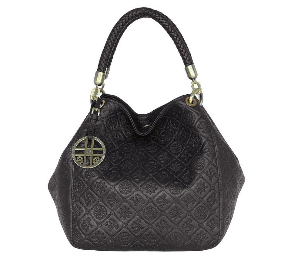 silvio tossi lederhandtasche mit original pr gung dank zwei taschengriffen bequem zu tragen. Black Bedroom Furniture Sets. Home Design Ideas