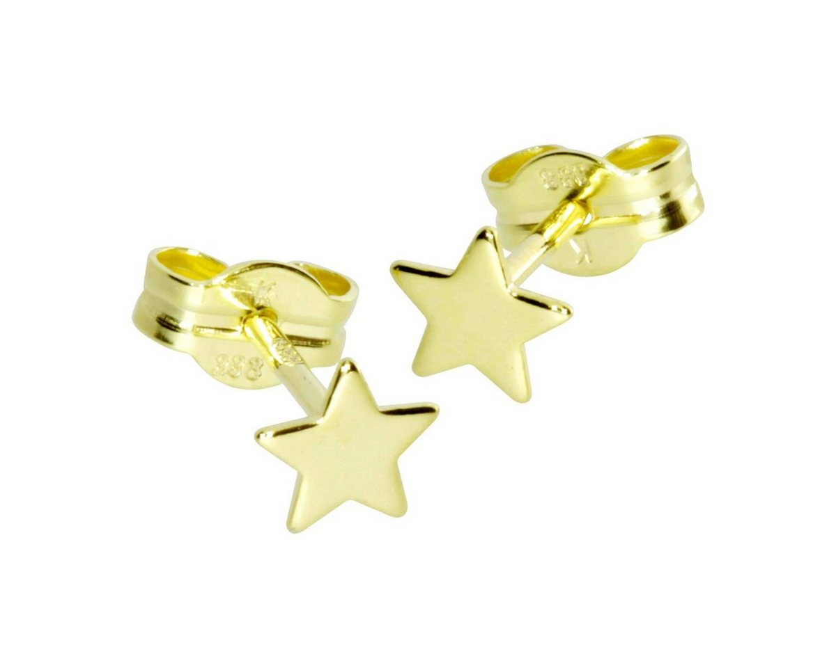 OSTSEE-SCHMUCK Paar Ohrstecker »Stern 5 mm Gold 333/000« | Schmuck > Ohrschmuck & Ohrringe > Ohrstecker | Gelb | OSTSEE-SCHMUCK