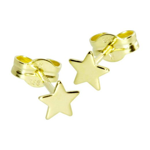 OSTSEE-SCHMUCK Paar Ohrstecker »Stern 5 mm Gold 333/000«
