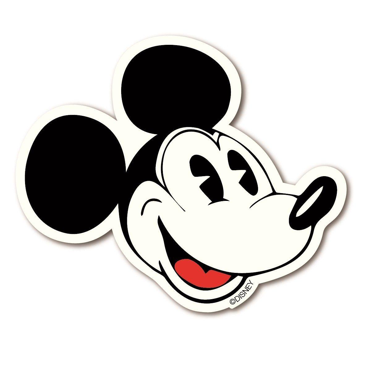 LOGOSHIRT Magnet mit klassischer Mickey Mouse-Silhouette