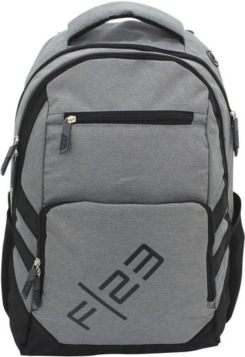 F23™ Schulrucksack »Teamplayer, grau«