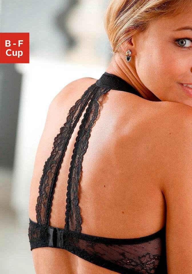 LASCANA Neckholder-BH mit soft gefüttertem Nacken-Einsatz und Spitzenrücken