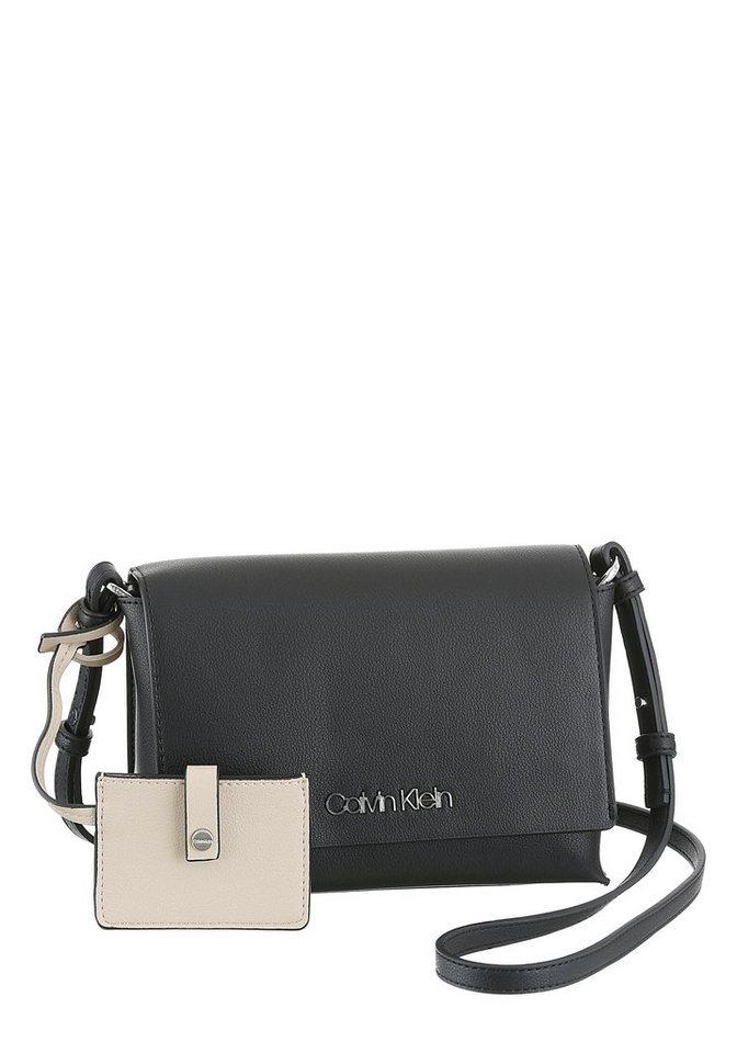 Damen Calvin Klein Umhängetasche TACK MED  im Mini Bag Format schwarz   08719115342838