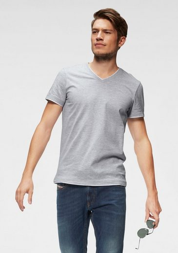 John Devin T-Shirt mit Layereinsätzen