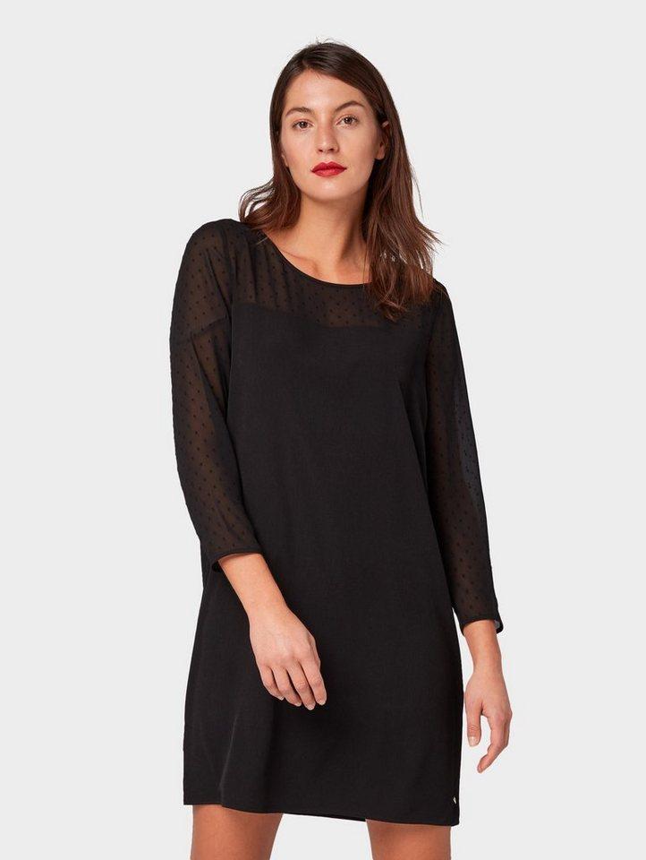 TOM TAILOR Denim Cocktailkleid »Kleid mit Chiffon « online ...