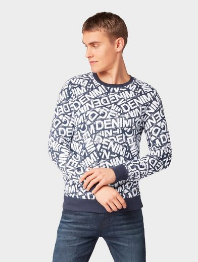 TOM TAILOR Denim Sweatshirt »Sweatshirt mit Schrift-Muster«