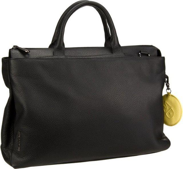 Damen Mandarina Duck Aktentasche Mellow Leather Aktentasche schwarz | 08032803606129