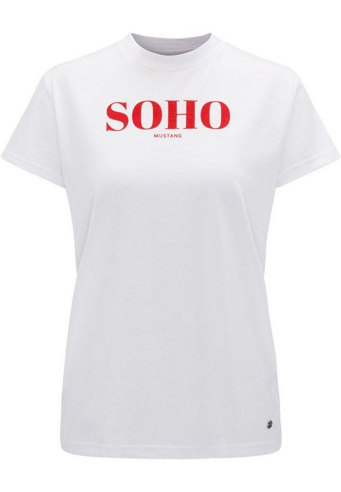 Mustang T Shirt Pure Baumwolle Mit Softer Haptik Online Kaufen Otto