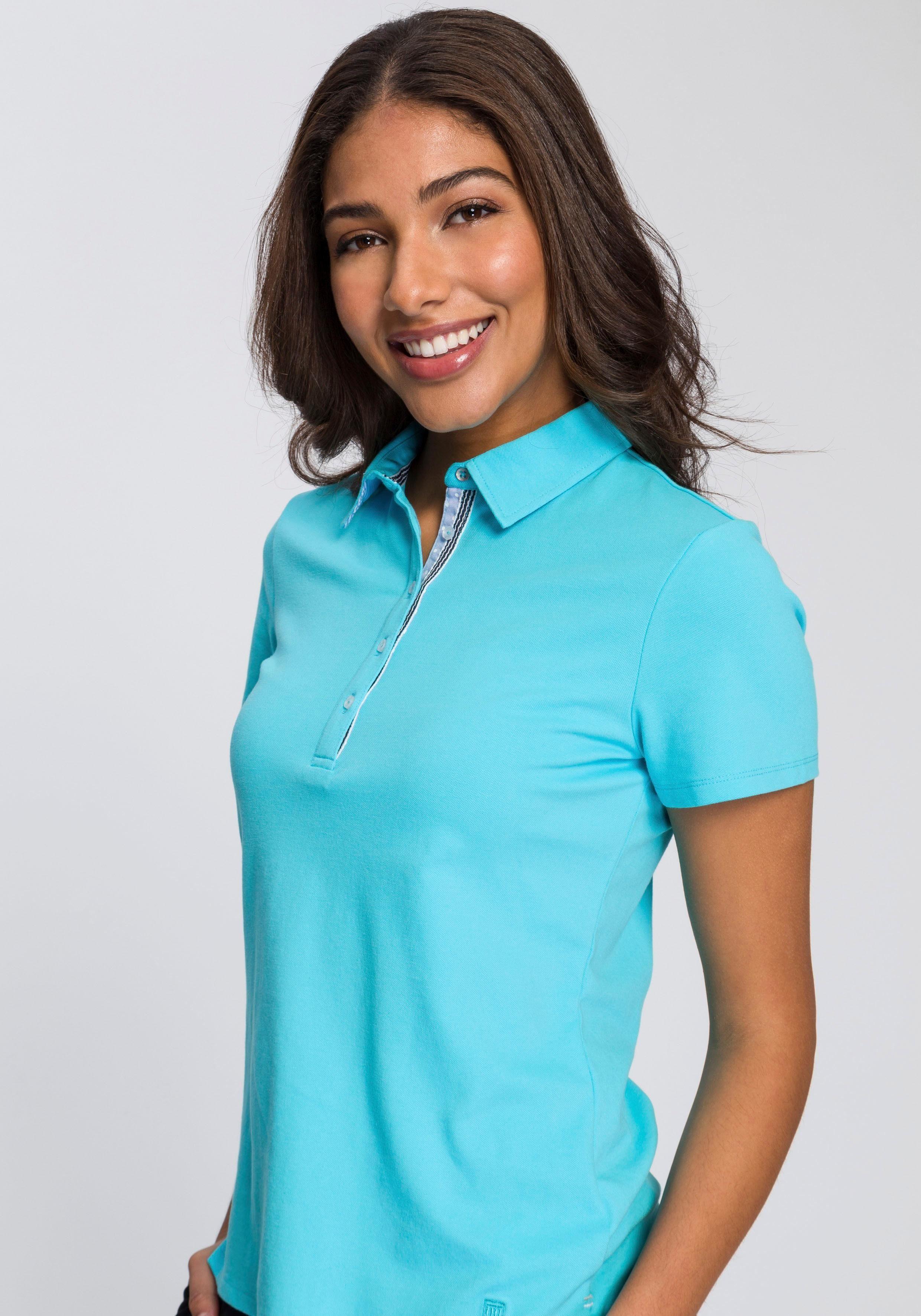 BASEFIELD Poloshirt mit dezenter Logostickerei