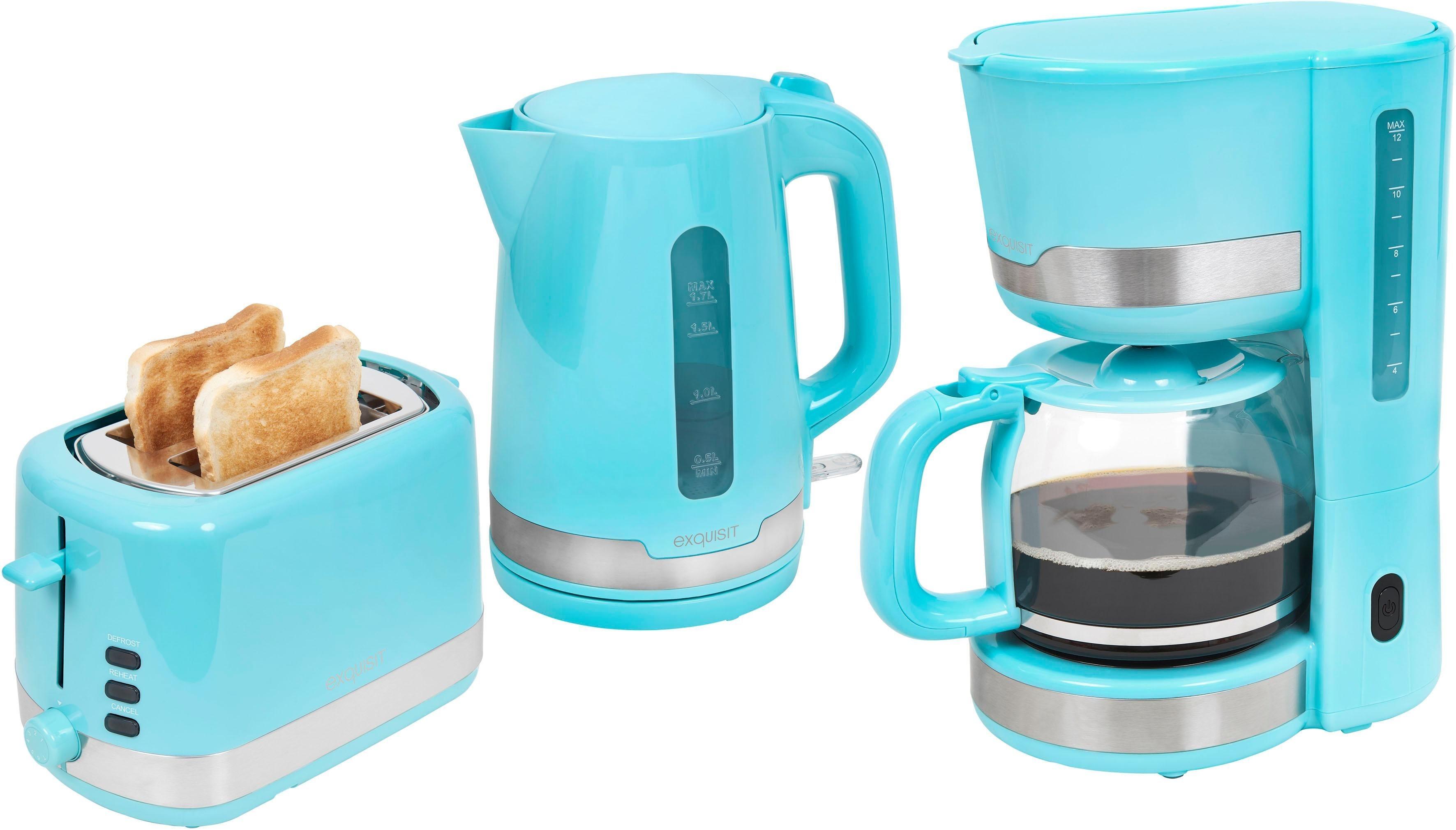 Filterkaffeemaschine, Wasserkocher und Toaster im Set, FS 7101 pbl
