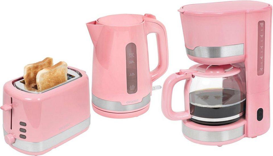 exquisit filterkaffeemaschine toaster und wasserkocher im set fs 7102 ppi online kaufen otto. Black Bedroom Furniture Sets. Home Design Ideas