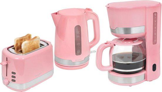exquisit Filterkaffeemaschine, Toaster und Wasserkocher im Set, FS 7102 ppi